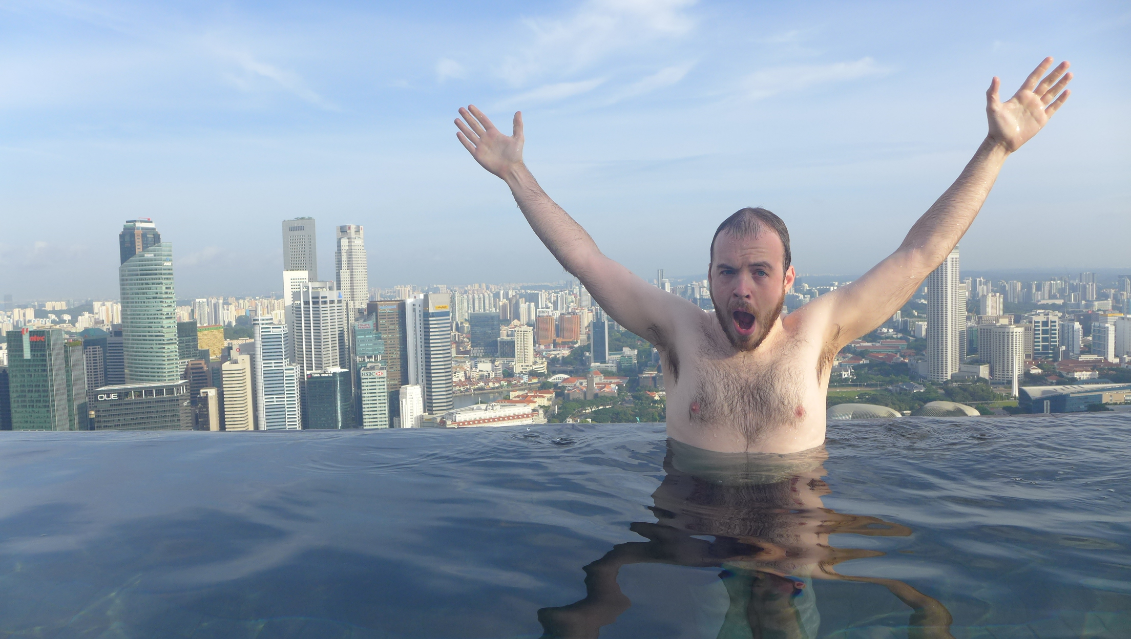 Singapore Hotel With Infinity Pool On Rooftop Image On The Edge Swimming At The Infinity Pool In Singapore